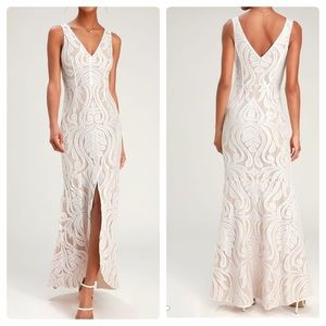 Ryse The Label Cassidy White Lace Maxi